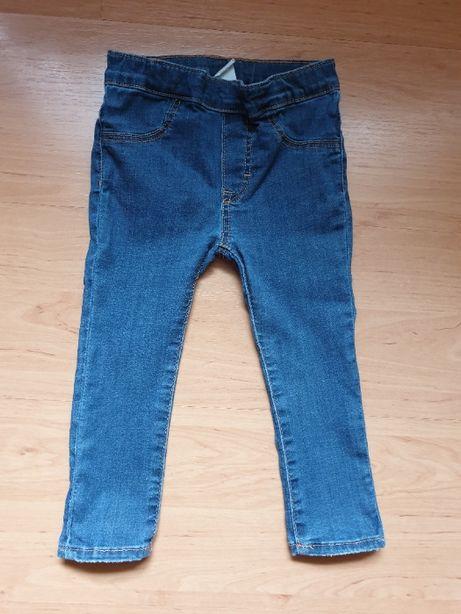 Legginsy jeansowe H&M rozm. 92 cm