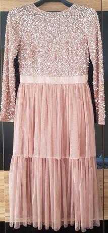 Sukienka Maya r. 38 brudny róż