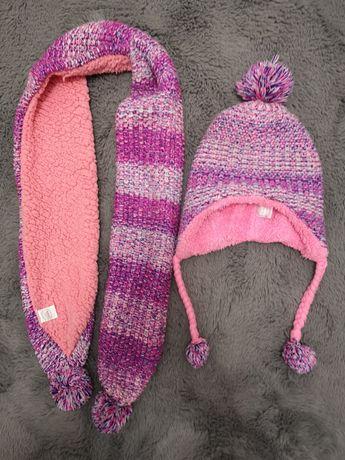 Cieplutka czapka i szalik Cool Club 54 cm