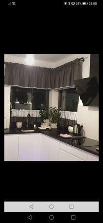 Firanka Lambrakin do kuchni okno narożne glamour zazdrostki