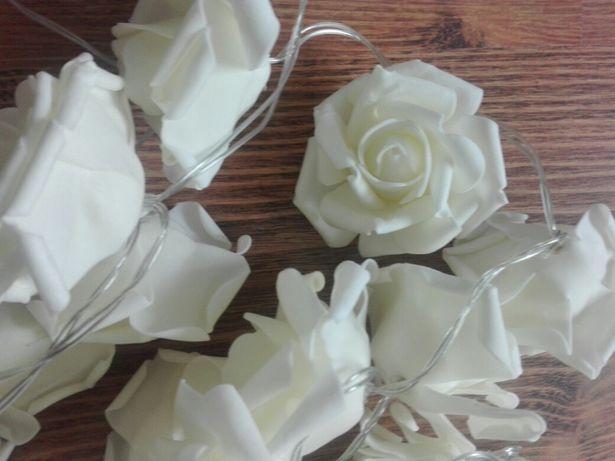 Piankowe różyczki, kremowe, 2m,