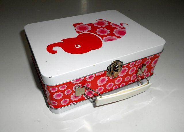 Ланч бокс для завтраков металлический чемоданчик Lunch Box Blafre