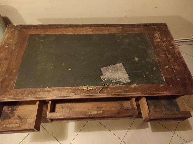 Biurko drewniane zabytkowe do renowacji