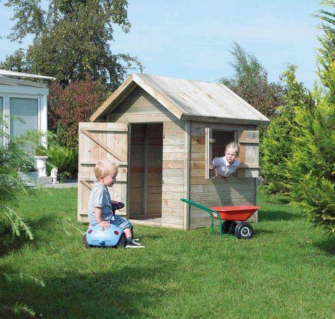 Domek dla dzieci drewniany 120x120x160cm Czyszczenie magazynów