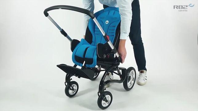 Инновац. коляска для особенных детей c ДЦП на карбон раме Stingrey R82