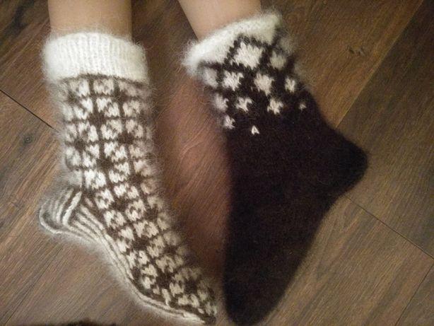 Носки, варежки из собачьей шерсти 100%ручная работа