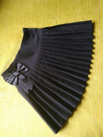 Юбка з бантом із складками шкільна форма