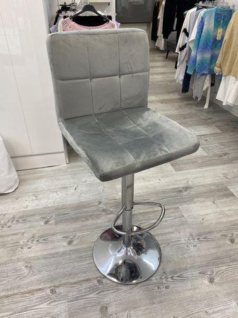 Hoker krzeslo szare fotel