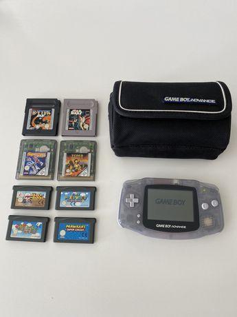 Nintendo Gameboy Advance fom jogos e bolsa incluida