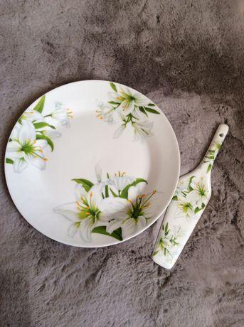 Набор для торта посуда тарелки блюдо срочно подарок