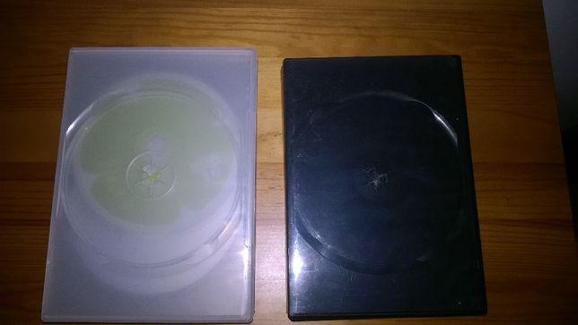 5 caixas de plástico para CD e DVD