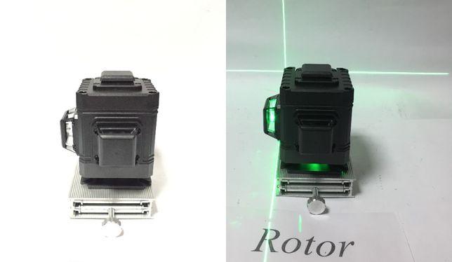 Лазерный уровень Гаранти Кубик нивелир с пультом 3D Нижний Зеленый луч