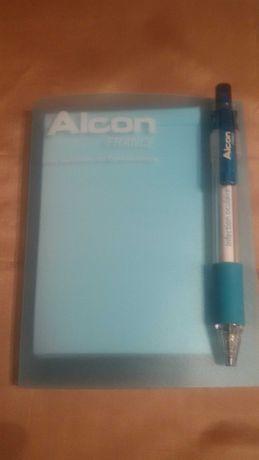 Набор - блокнот для записей + шариковая ручка.