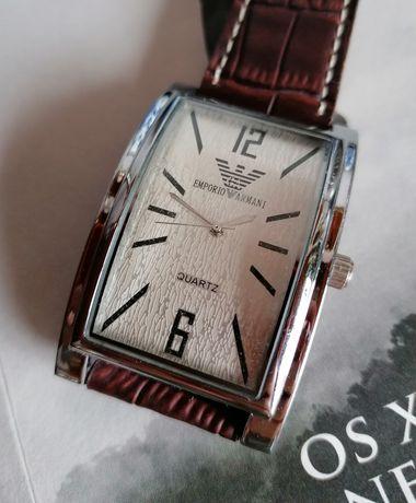 Relógio Original Emporio Armani Giorgio A0016G Homem Swiss Leather TOP