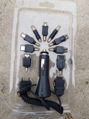 Ładowarka samochodowa 12 V Zestaw Końcówek