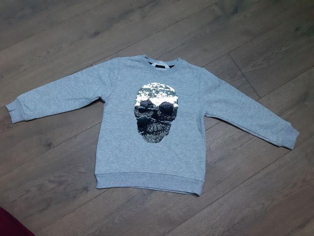 Bluza H&M Czach Zmieniające Cekiny 110 cm