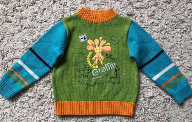 Яркий шерстяной свитер Sela 98р для мальчика
