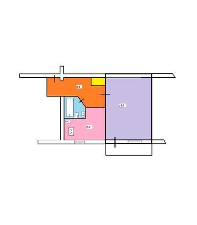 Продам однокомнатную квартиру за 11900$