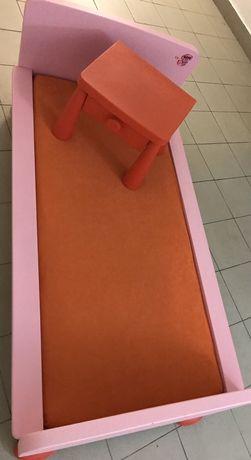 IKEA MAMMUT, łóżko, łóżeczko dziecięce + stolik nocny