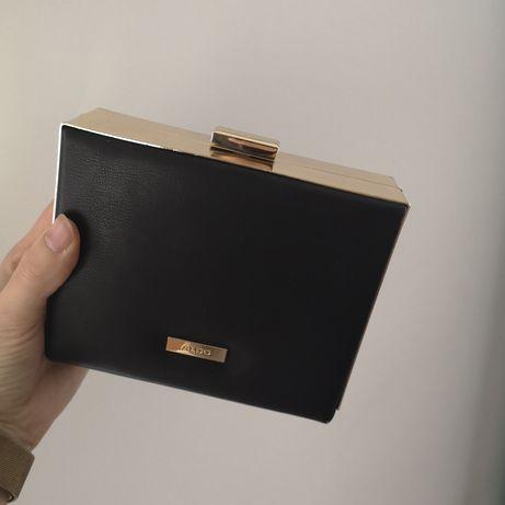 Aldo kopertówka, torebka czarna zlota