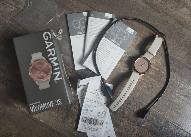 Zegarek hybrydowy Smartwatch Garmin Vivomove 3S beż złoto
