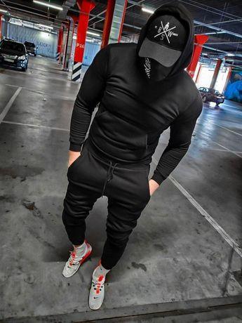 Мужской спортивный костюм с капюшоном,спортивные штаны Турция 3 цвета