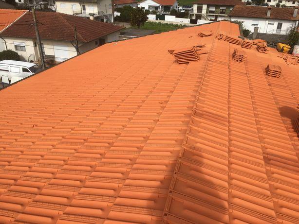 Remodelações de casas velhas, lavagem de telhados
