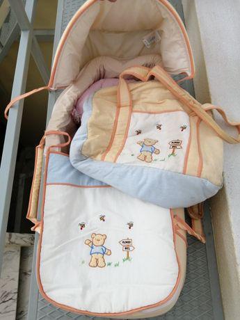 Alcofa para bebé +mala de transporte