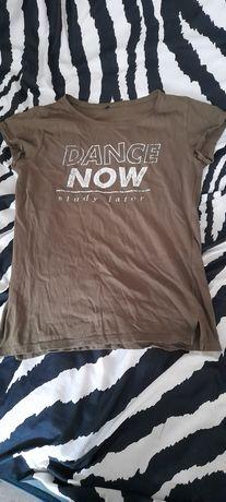 T-shirt damski khaki