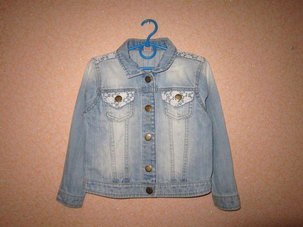 Джинсовка Tu 4-5 лет, джинсовая куртка