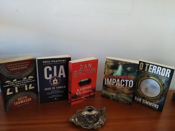 Livros Mistério/ Thriller / Drama / Suspense - 5 livros
