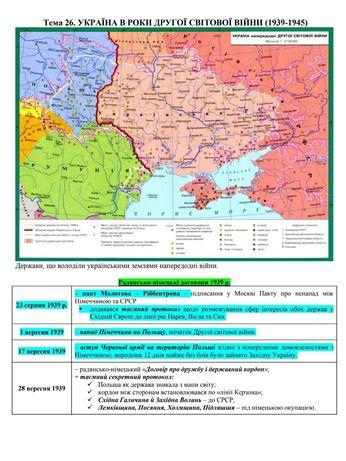 Кольоровий конспект з історії України