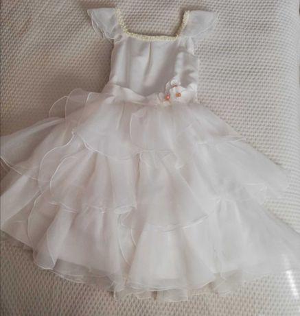 Sukienka wizytowa dla dziewczynki rozm. 140 ślub, wesele + gratis