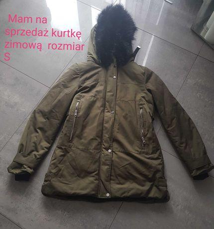 Kurtka Zara damska rozmiar xs/s bardzo ciepła