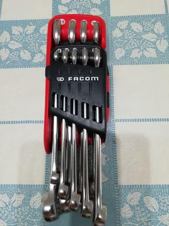 Conjunto de chaves de bocas lunetas Facom