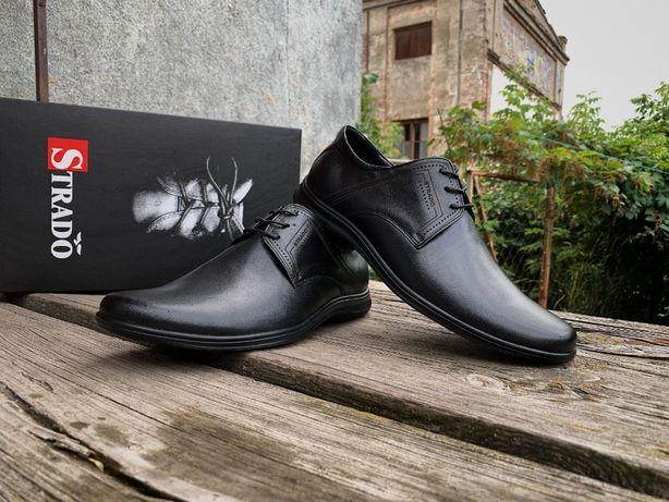 Мужские кожаные туфли Strado из Натуральной Кожи! АКЦИЯ! Супер-цена!
