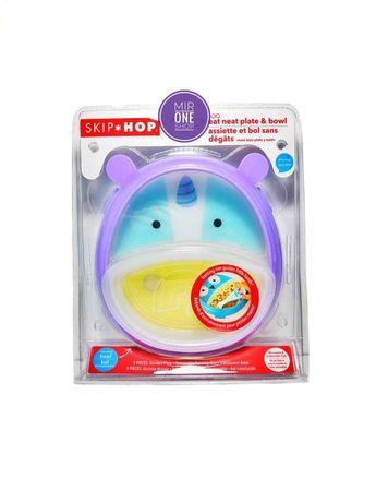 Фирменная тарелочка Skip hop 2в1. Тарелочка с единорогом