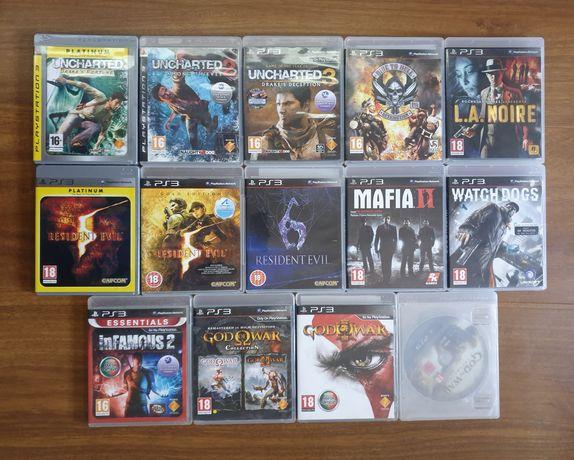 Resident Evil,Mafia 2,Infamous,Uncharted 3,whatcdogs e God Of War PS3