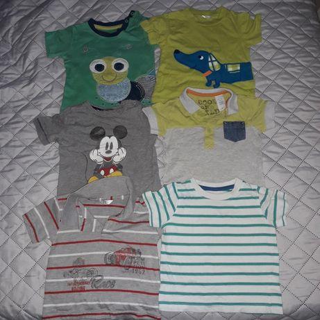 Zestaw paka dla chłopaka koszulki 80 krótki rękaw 25 zł