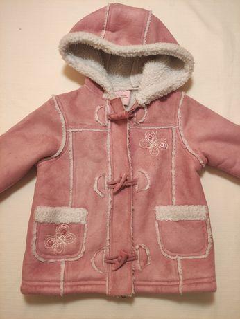Kożuszek kożuch kurtka zimowa rozmiar 86