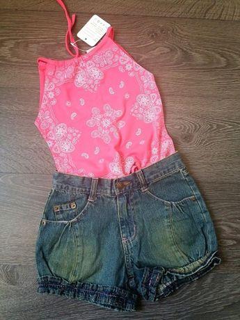Новые джинсовые шорты на девочку 6-8 лет