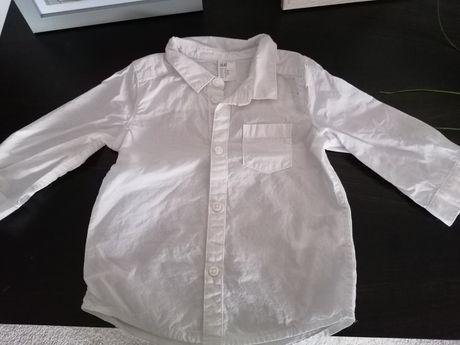 Koszula biala z dlugim rekawem H&M