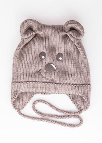 Демисезонная шапочка для мальчика, девочки