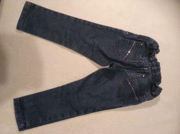 Spodnie jeans dżinsy dziewczynka rozmiar 104 cm 4 lata gumka Next
