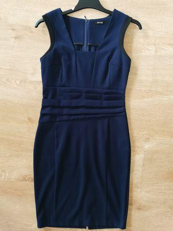 Orsay r. 38 sukienka koktajlowa granatowa biurowa klasyczna