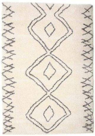 Carpete ou Tapete Berber Branco e Preto - NOVO