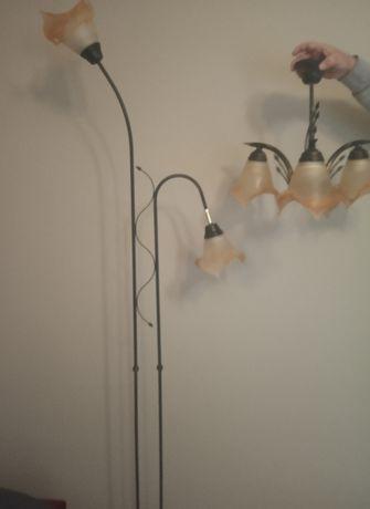 Lampa stojąca i sufitowa