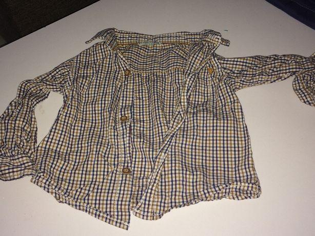 koszula w kratę chłopięca reserved baby r 86