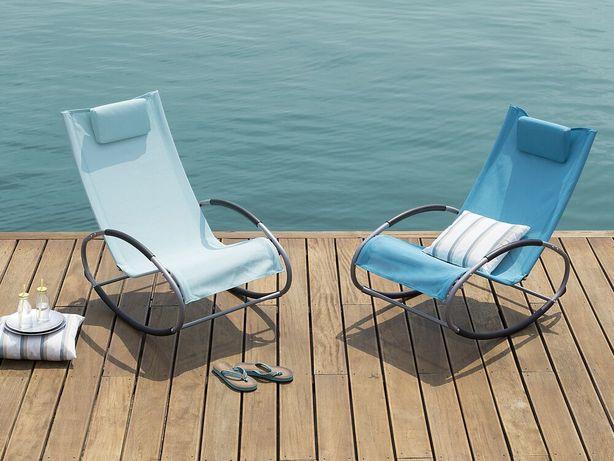 Cadeira de jardim de baloiço azul turquesa CAMPO - Beliani