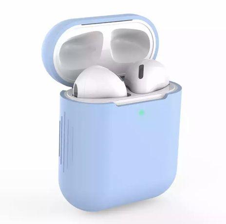 Etui silikonowe do AirPods 1/2 niebieskie